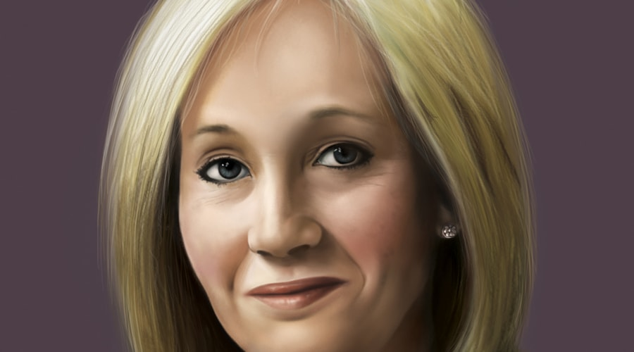 portrait of j k rowling style code bookworks customised portrait of j k rowling style code 331